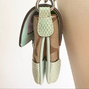 Coach Bags - Coach - Snakeskin trimmed purse (Limited edition)